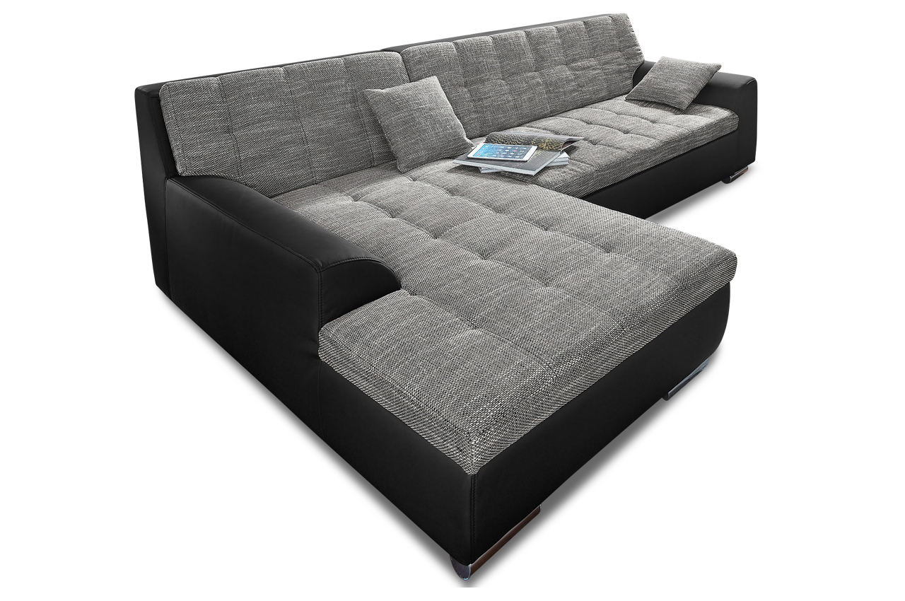 ecksofa treviso mit schlaffunktion anthrazit sofas zum halben preis. Black Bedroom Furniture Sets. Home Design Ideas