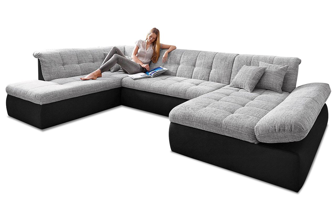 wohnlandschaft moric kis mit schlaffunktion grau sofas zum halben preis. Black Bedroom Furniture Sets. Home Design Ideas