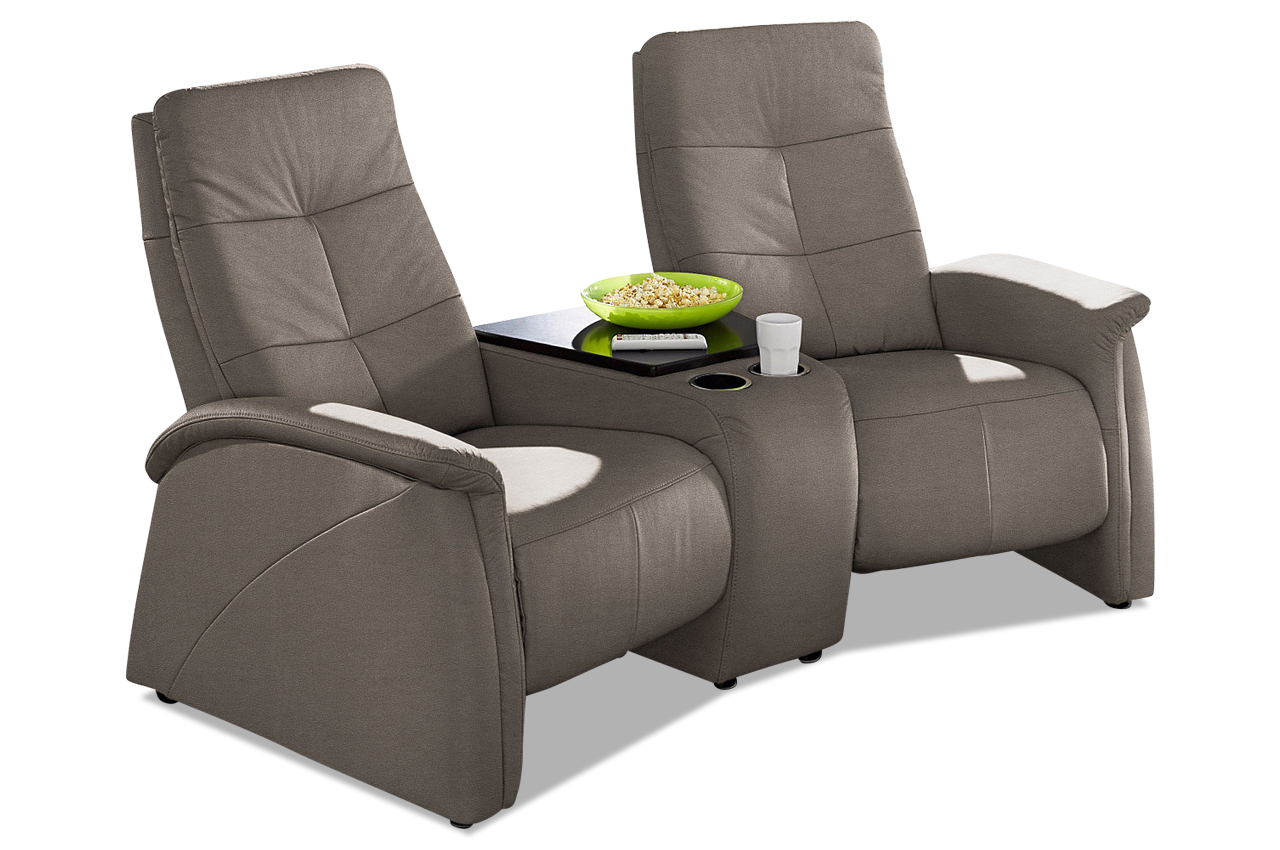 2 sitzer sofa tivoli mit relaxfunktion echt leder sofa couch ecksofa ebay. Black Bedroom Furniture Sets. Home Design Ideas