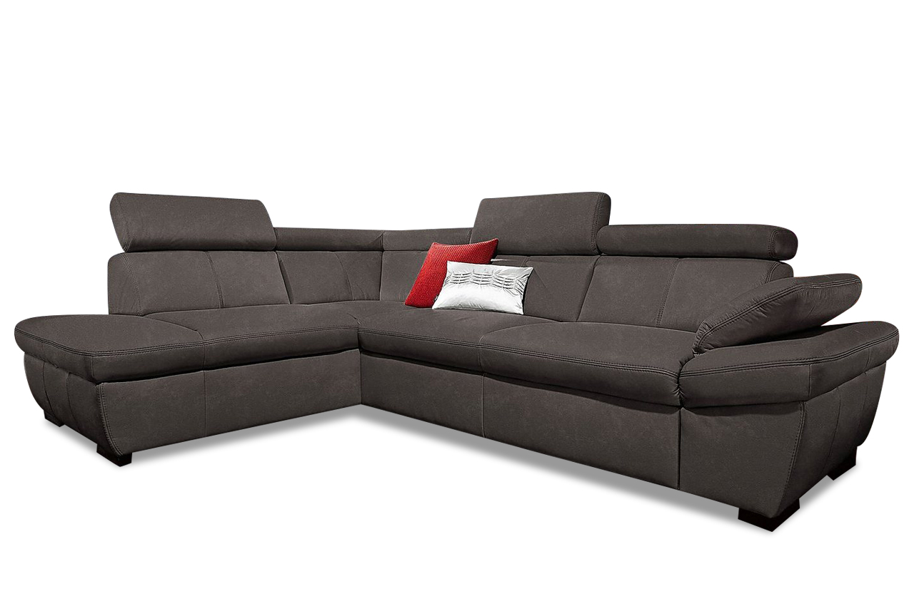 Exxpo by gala ecksofa xl salerno anthrazit sofas zum for Ecksofa wildleder