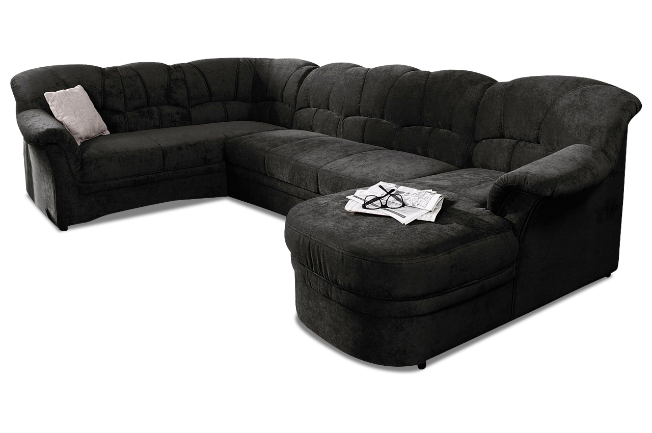 wohnlandschaft kampen braun mit federkern sofas zum halben preis. Black Bedroom Furniture Sets. Home Design Ideas
