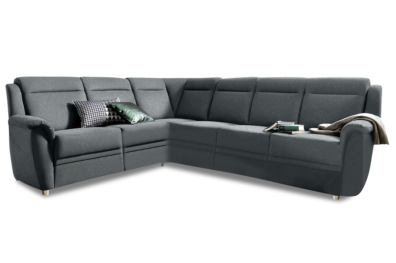 Rundecke Katarina Mit Schlaffunktion Anthrazit Mit Federkern Sofa Couch E Ebay