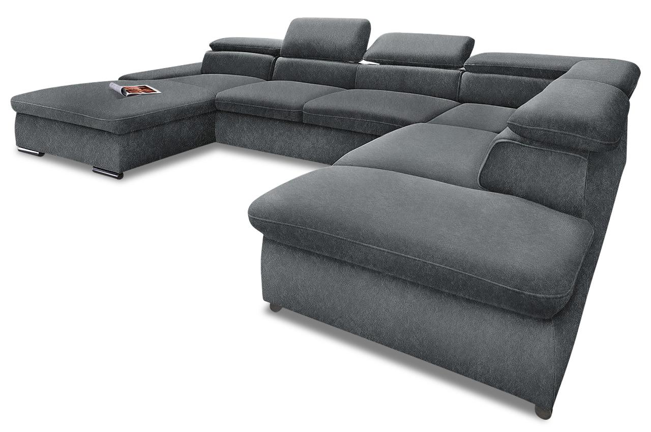 wohnlandschaft anthrazit sofas zum halben preis. Black Bedroom Furniture Sets. Home Design Ideas
