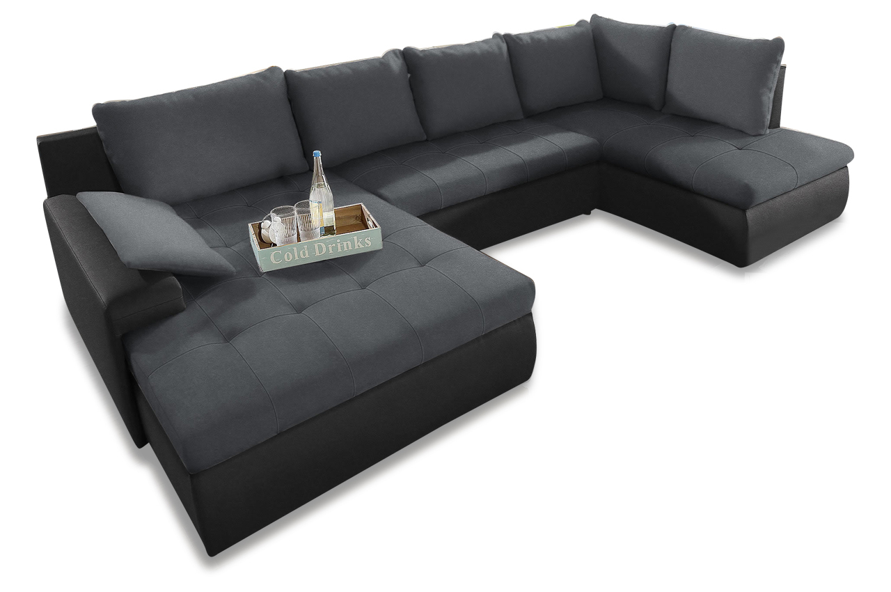 wohnlandschaft candy xl mit schlaffunktion anthrazit sofas zum halben preis. Black Bedroom Furniture Sets. Home Design Ideas