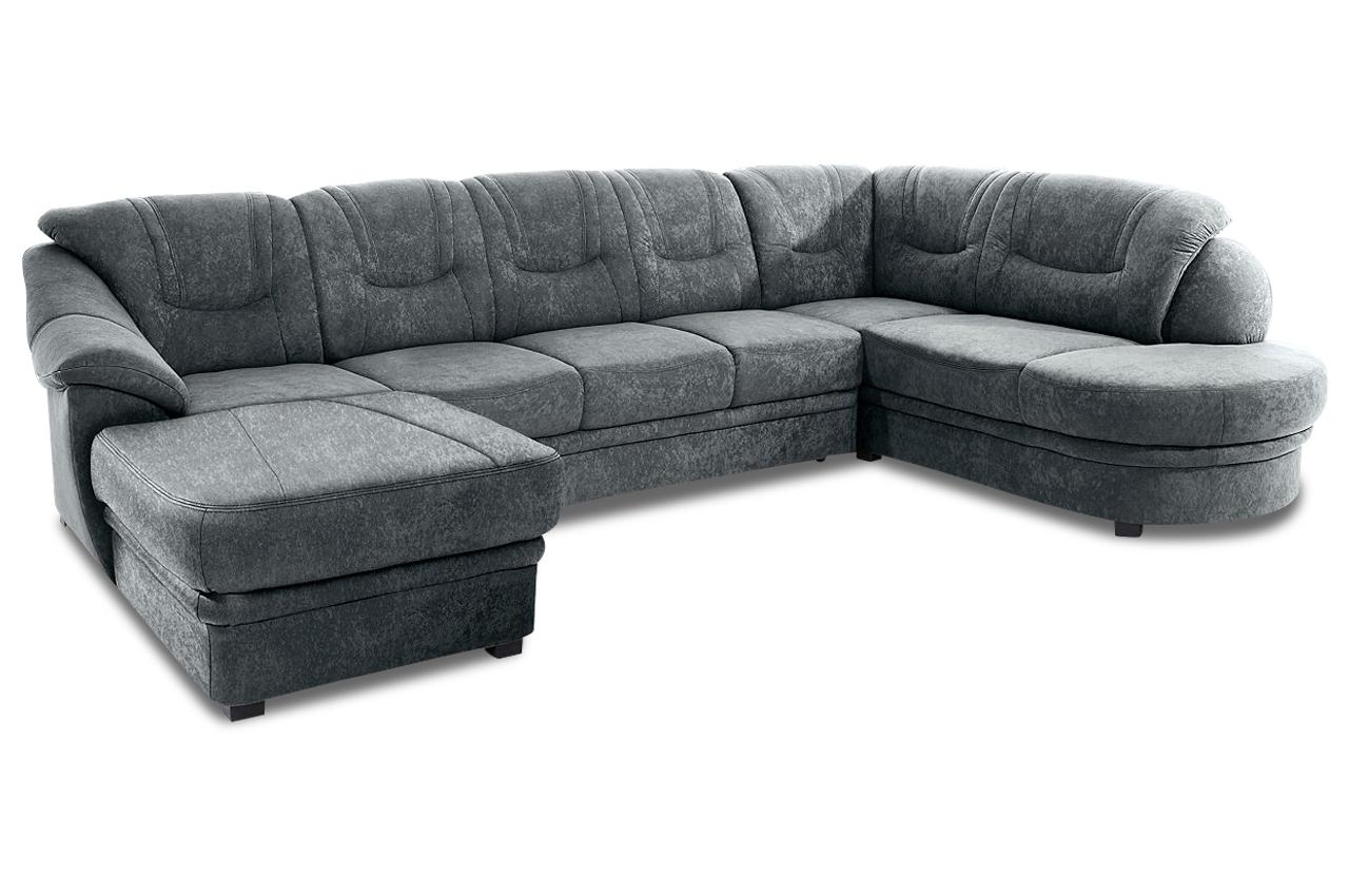 wohnlandschaft anthrazit mit federkern sofas zum halben preis. Black Bedroom Furniture Sets. Home Design Ideas