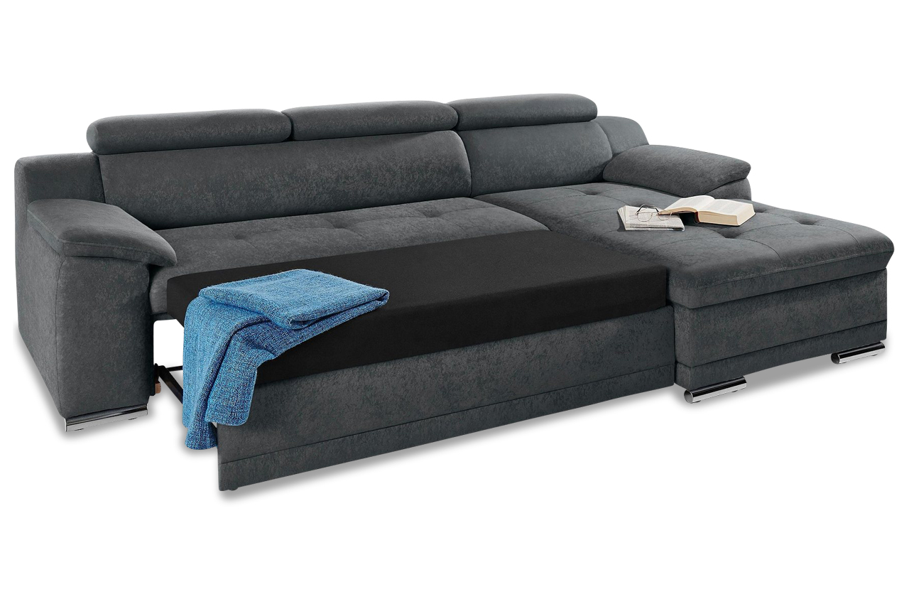 ecksofa andiamo mit schlaffunktion anthrazit sofa couch ecksofa. Black Bedroom Furniture Sets. Home Design Ideas