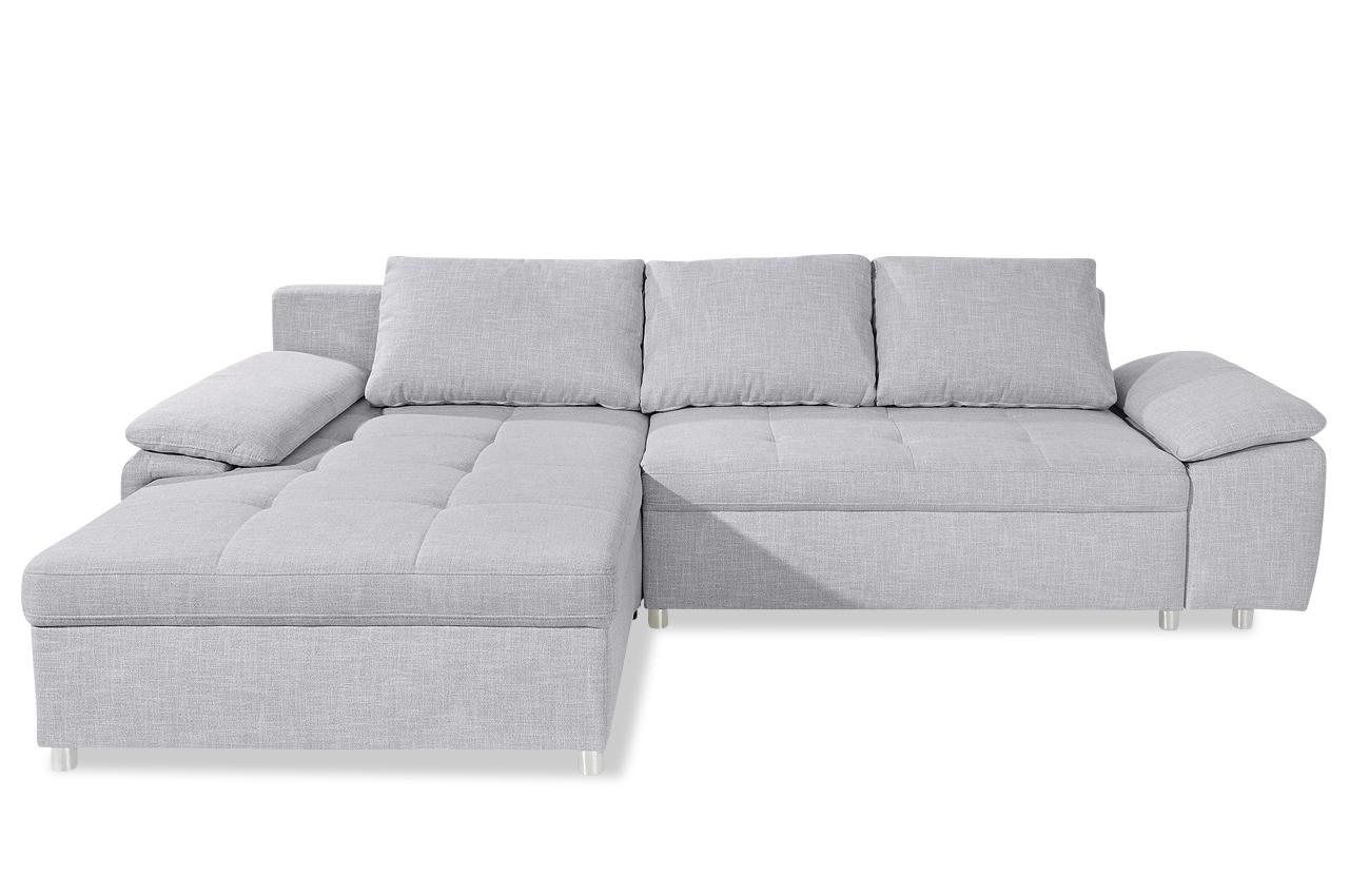 ecksofa mit schlaffunktion grau ecksofas sofas zum. Black Bedroom Furniture Sets. Home Design Ideas