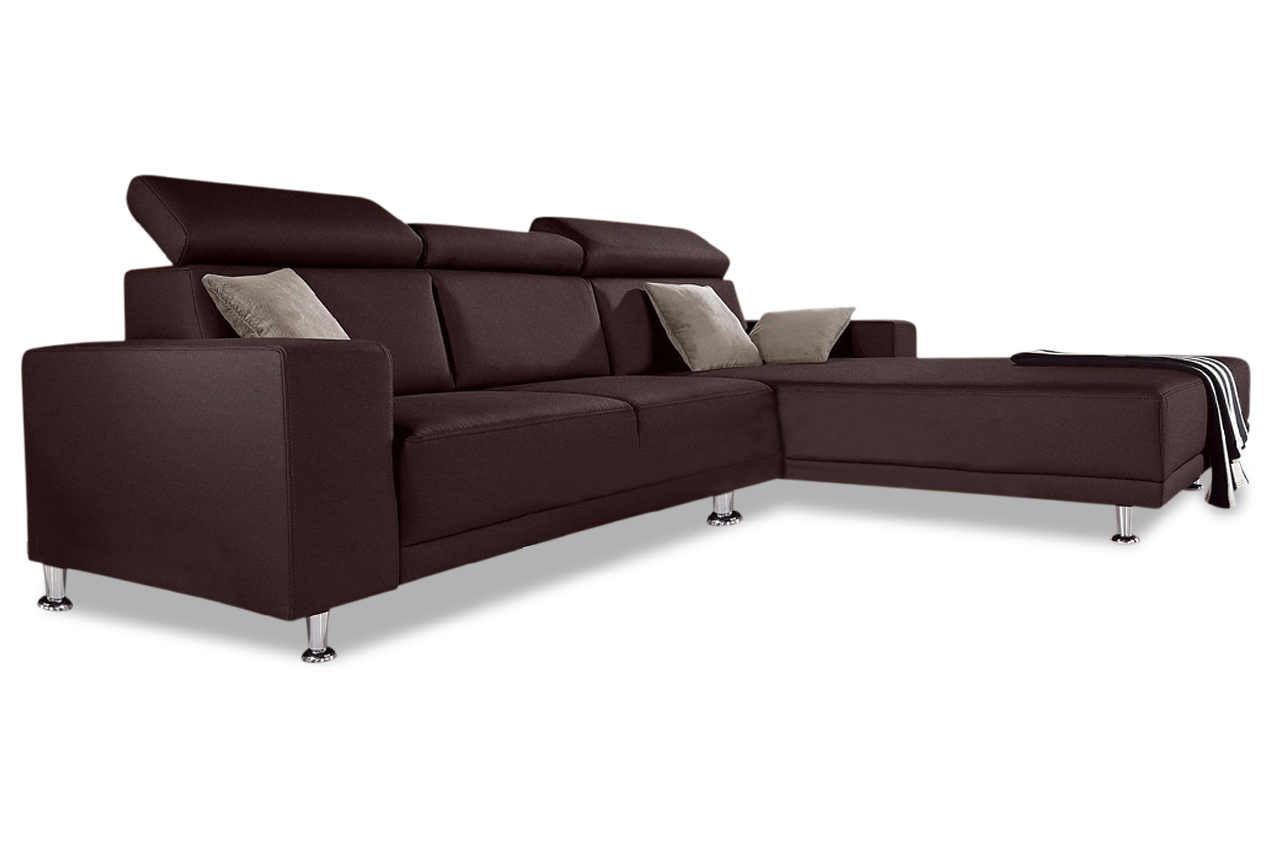 sofa team ecksofa 174 mit sitzverstellung schwarz. Black Bedroom Furniture Sets. Home Design Ideas