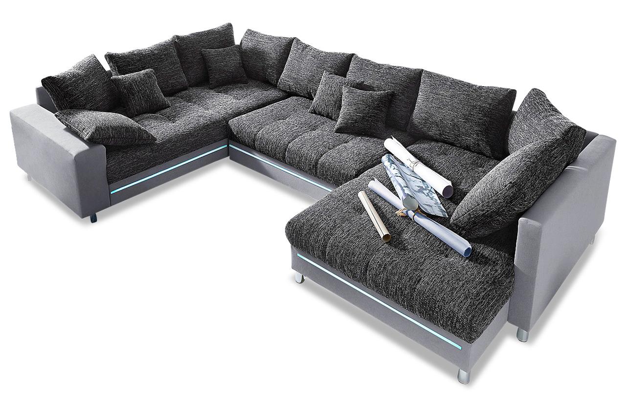 wohnlandschaft tobi mit led sofas zum halben preis. Black Bedroom Furniture Sets. Home Design Ideas