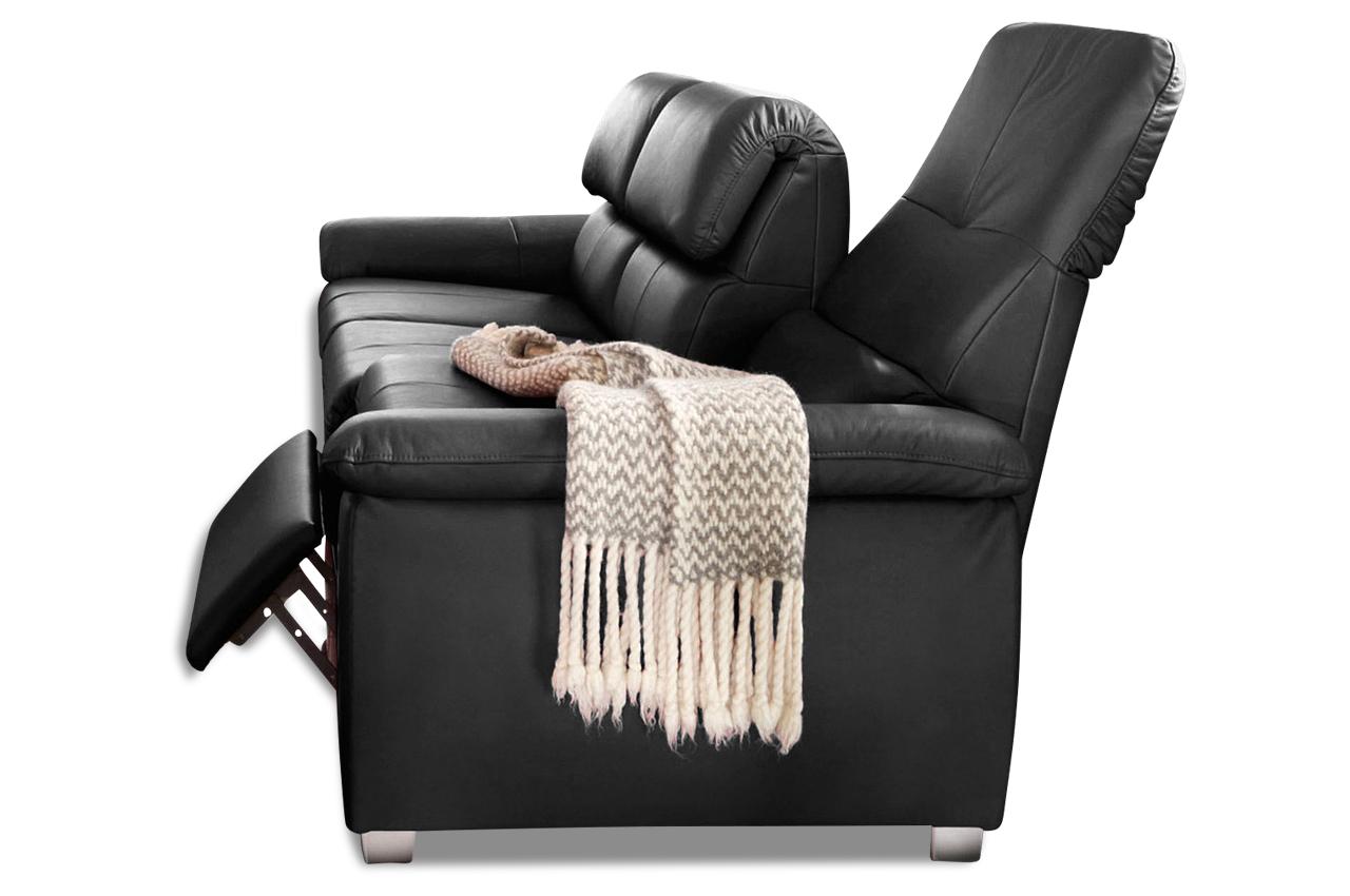 leder 3er sofa schwarz sofas zum halben preis. Black Bedroom Furniture Sets. Home Design Ideas
