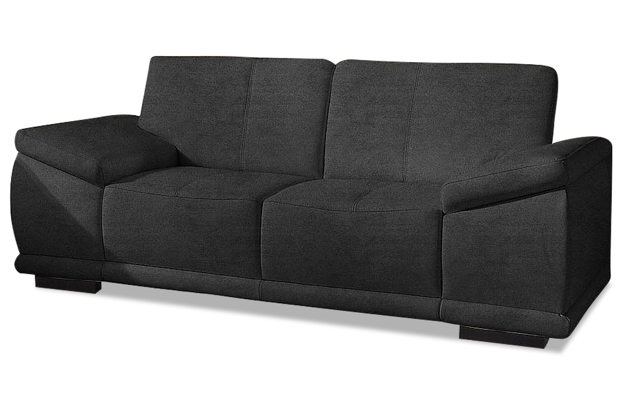 2er sofa calypso schwarz sofas zum halben preis. Black Bedroom Furniture Sets. Home Design Ideas