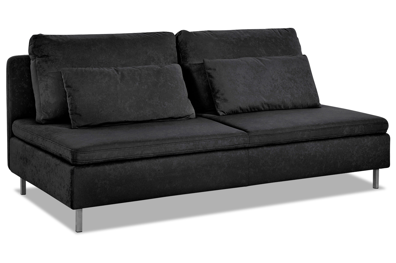 3er sofa schwarz sofas zum halben preis. Black Bedroom Furniture Sets. Home Design Ideas