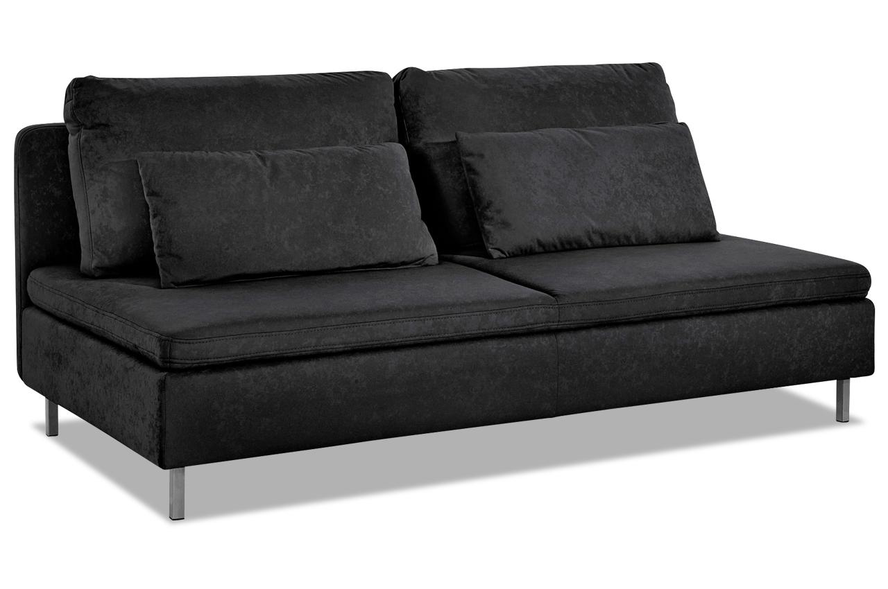 3er sofa schwarz sofas zum halben preis. Black Bedroom Furniture Sets. Home Design Ideas