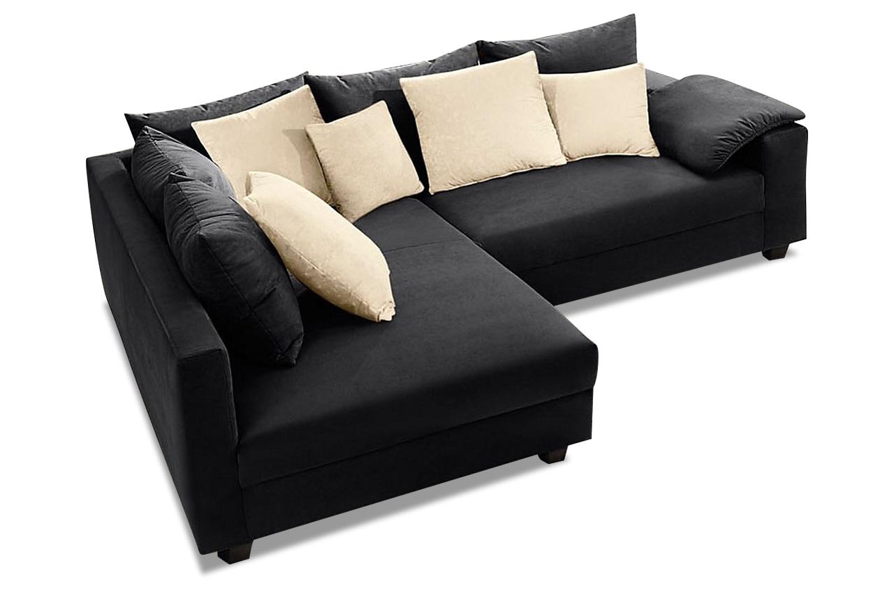 ecksofa xl sky schwarz mit federkern sofas zum halben preis. Black Bedroom Furniture Sets. Home Design Ideas