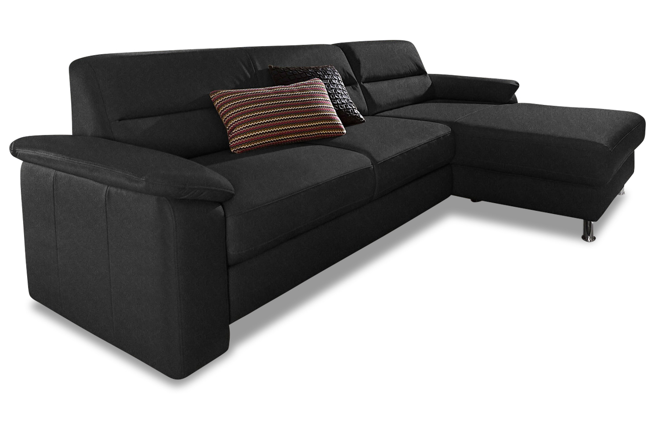 ecksofa ascara schwarz mit boxspring sofa couch ecksofa. Black Bedroom Furniture Sets. Home Design Ideas