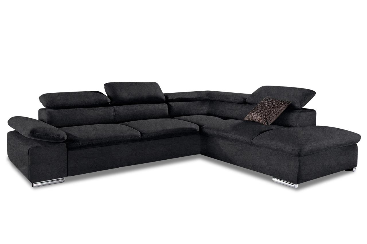 Ecksofa xl alcudia schwarz sofa couch ecksofa ebay for Ecksofa ohne armlehnen