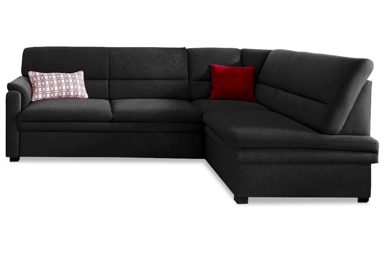 ecksofa xl schwarz mit federkern sofas zum halben preis. Black Bedroom Furniture Sets. Home Design Ideas