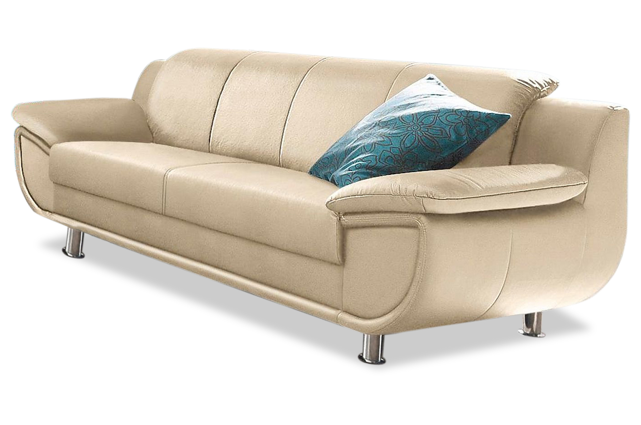 leder 3er sofa rondo creme sofas zum halben preis. Black Bedroom Furniture Sets. Home Design Ideas