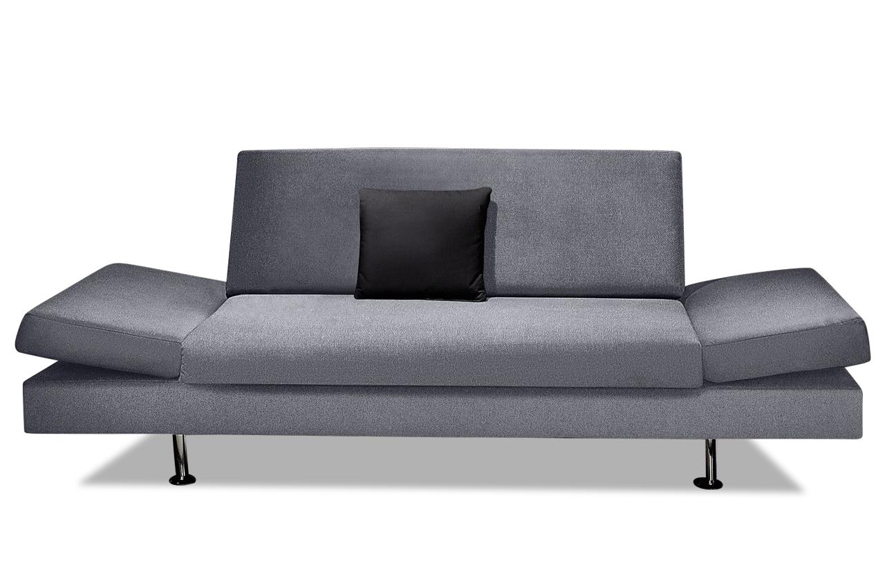 sofa team 2er sofa 172 grau sofas zum halben preis. Black Bedroom Furniture Sets. Home Design Ideas
