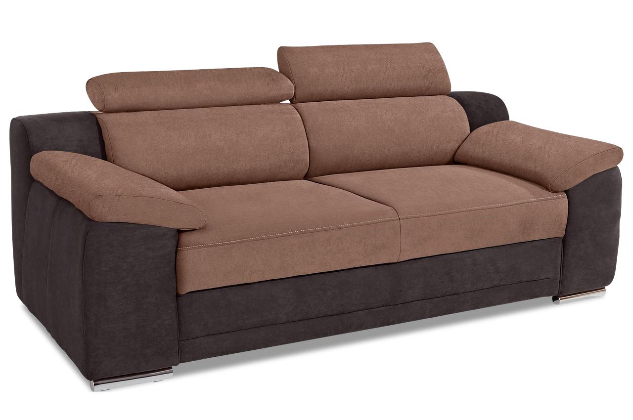 3er sofa xenia braun sofa couch ecksofa. Black Bedroom Furniture Sets. Home Design Ideas