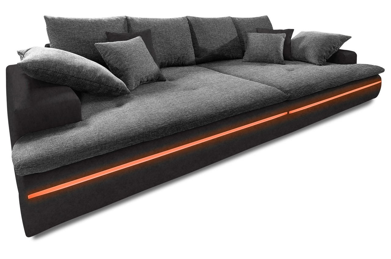 bigsofa haiti xxl mit led sofas zum halben preis. Black Bedroom Furniture Sets. Home Design Ideas