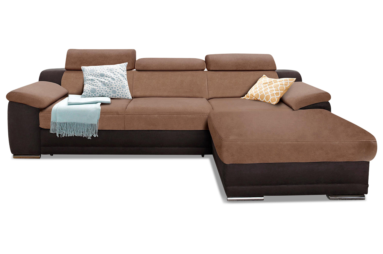Ecksofa braun sofas zum halben preis for Ecksofa microfaser braun