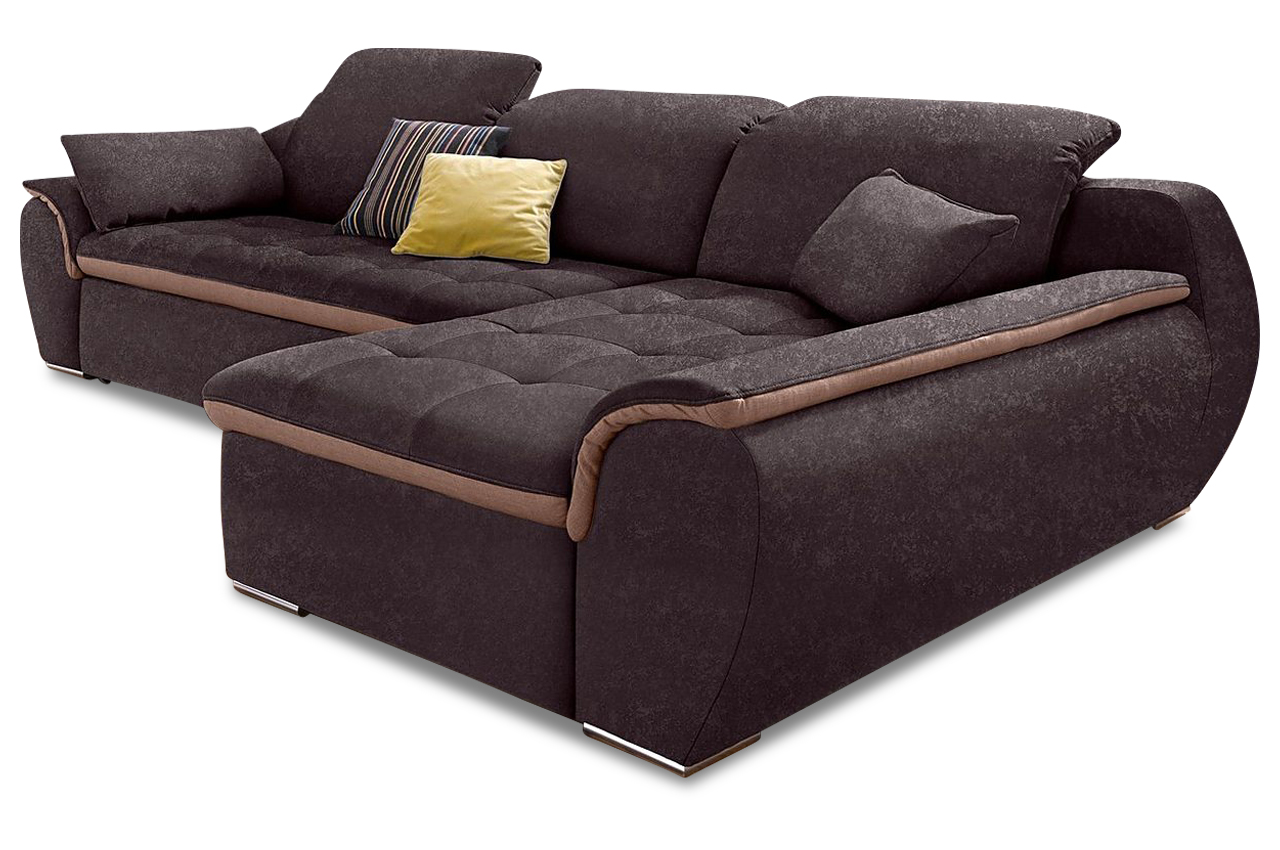 sofa team ecksofa banjo braun sofas zum halben preis. Black Bedroom Furniture Sets. Home Design Ideas