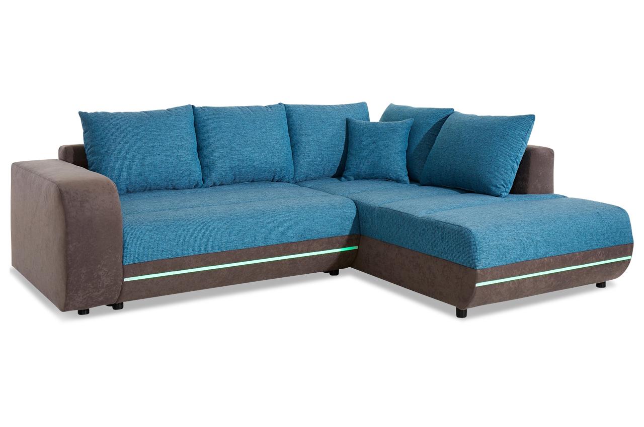polsterecke trentino mit led sofas zum halben preis. Black Bedroom Furniture Sets. Home Design Ideas