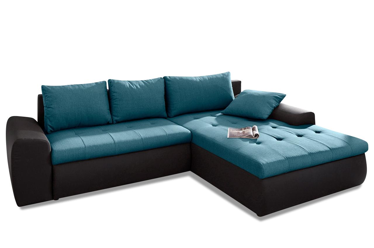 ecksofa celine xxl mit schlaffunktion schwarz sofa couch ecksofa ebay. Black Bedroom Furniture Sets. Home Design Ideas