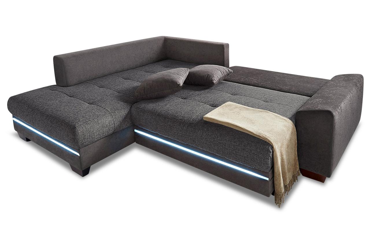 Ecksofa XL Nikita links - mit LED und Schlaffunktion ...
