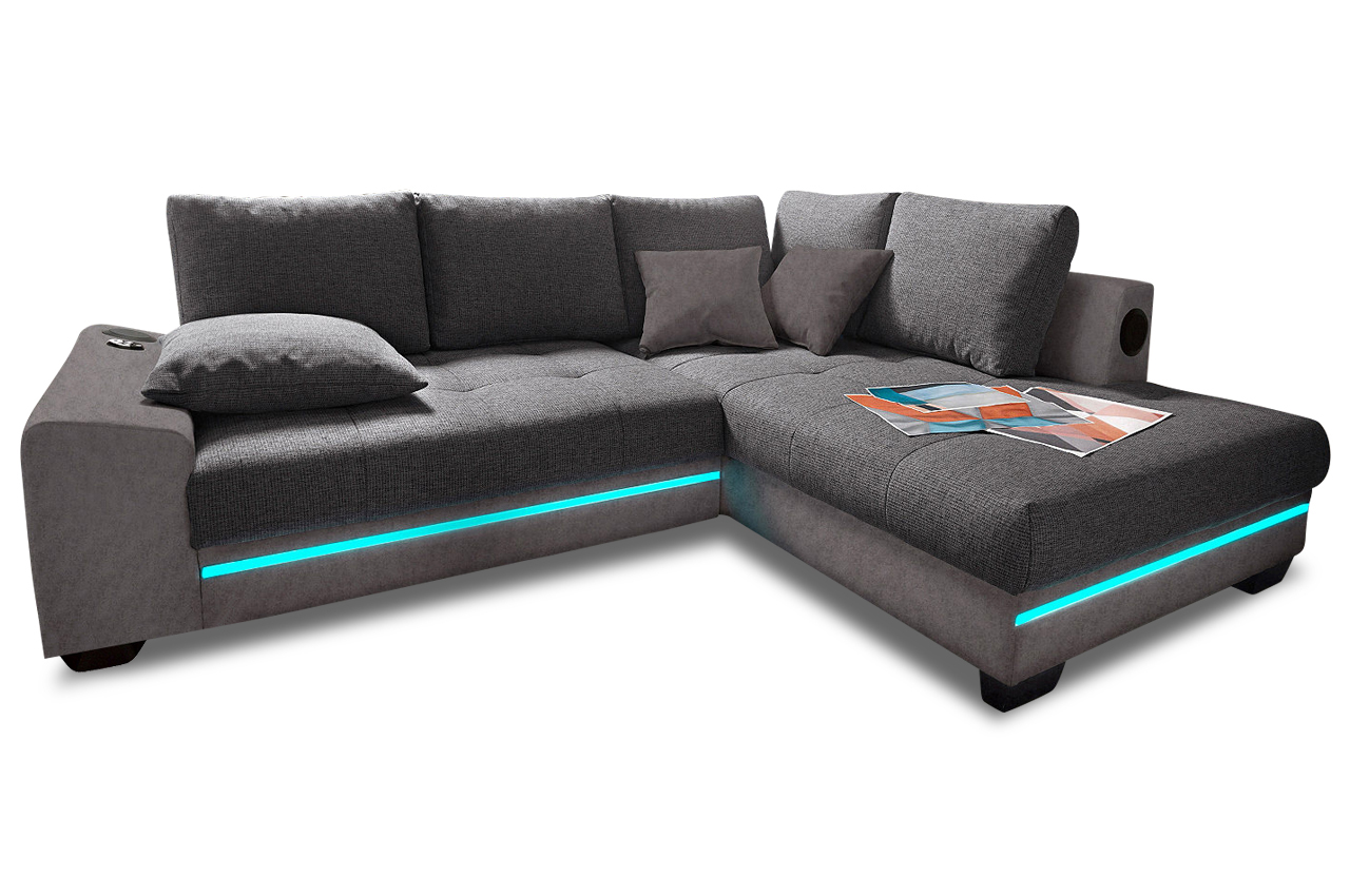 polsterecke nikita mit bett led und sound sofas zum halben preis. Black Bedroom Furniture Sets. Home Design Ideas