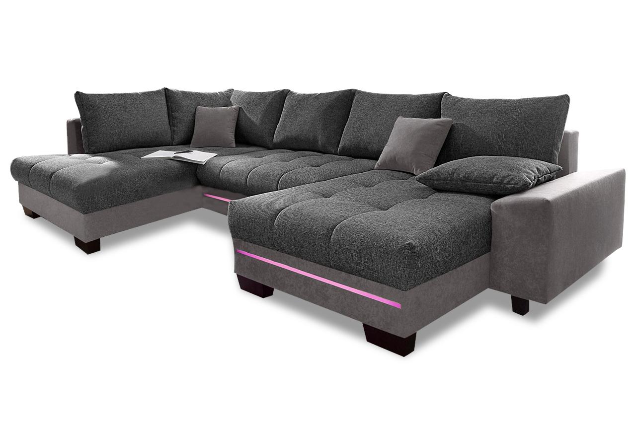 wohnlandschaft nikita mit led und sound und. Black Bedroom Furniture Sets. Home Design Ideas