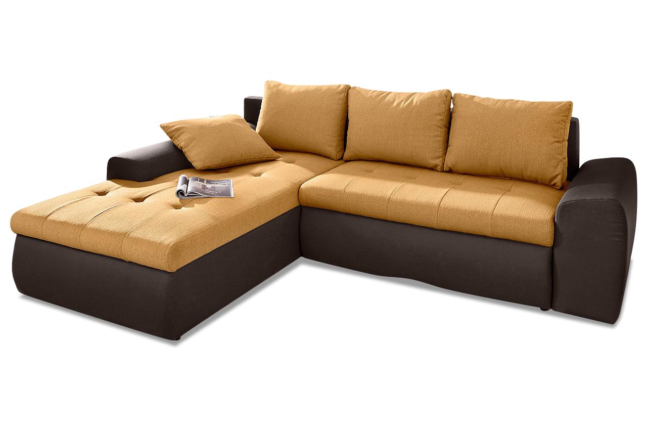 Sit more polsterecke celine xxl mit bett sofas zum for Ecksofa braun mit schlaffunktion