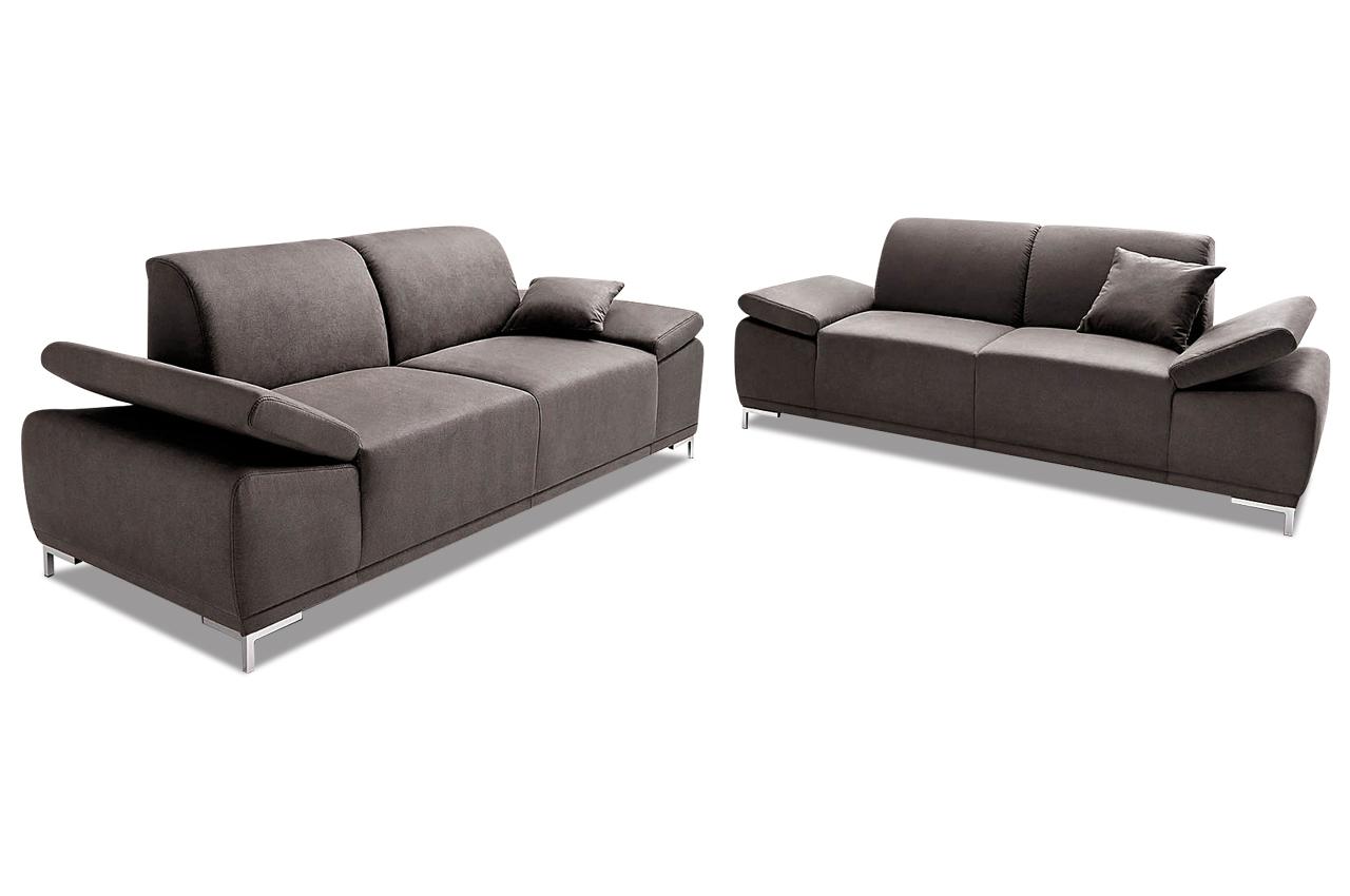 garnitur 3 2 saba grau mit boxspring sofas zum halben preis. Black Bedroom Furniture Sets. Home Design Ideas