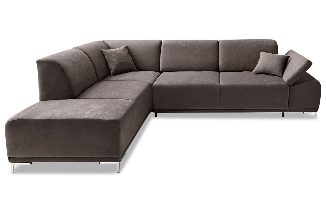 ecksofa xl saba mit sitzverstellung grau mit federkern. Black Bedroom Furniture Sets. Home Design Ideas