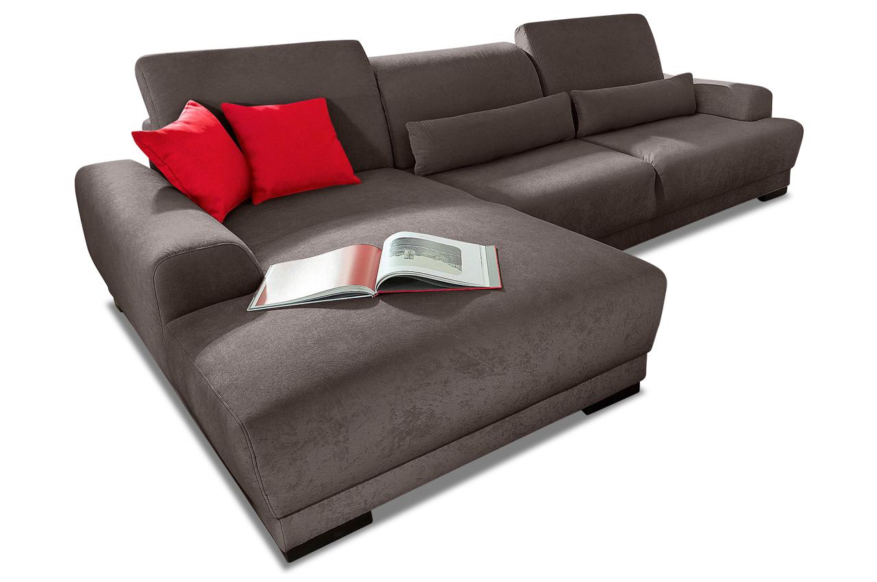 ecksofa orlando grau mit federkern sofas zum halben preis. Black Bedroom Furniture Sets. Home Design Ideas