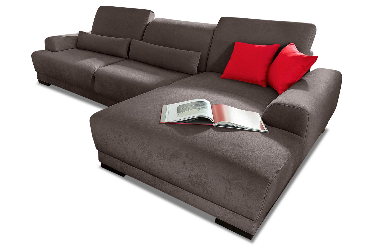 Ecksofa orlando grau mit federkern sofas zum halben preis for Ecksofa microfaser grau