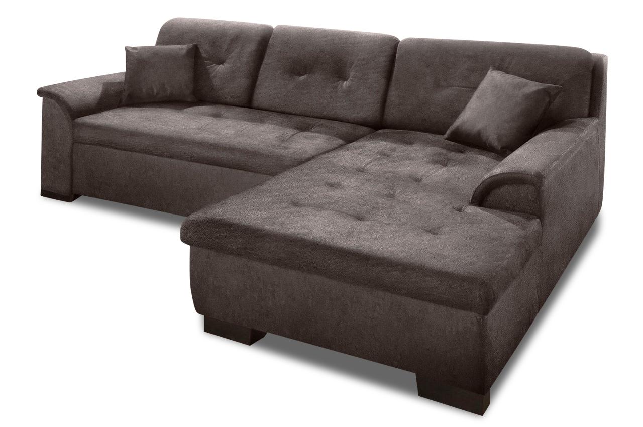 Polsterecke bergen mit bett stoff sofa couch ecksofa ebay for Bett mit couch