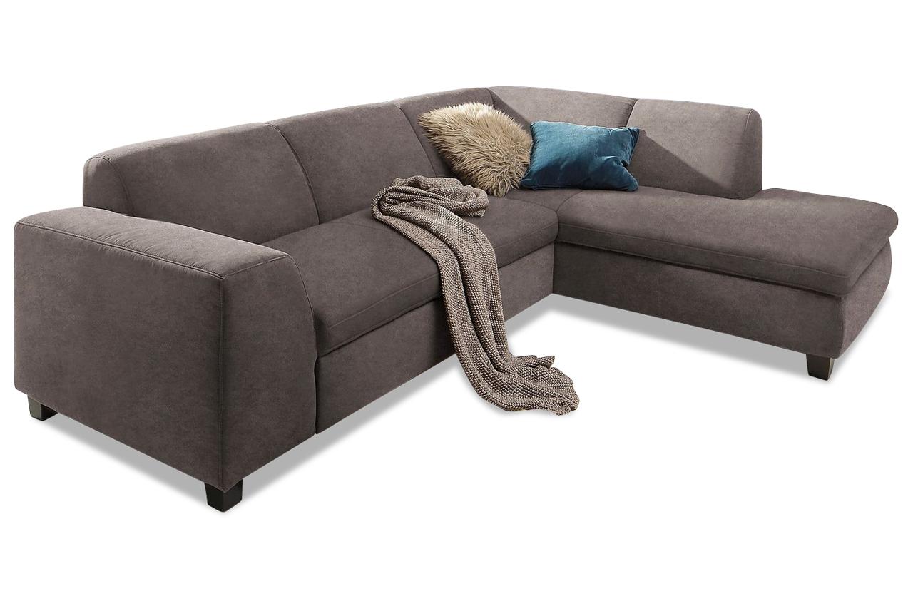 ecksofa xl aparo grau mit federkern sofa couch ecksofa ebay. Black Bedroom Furniture Sets. Home Design Ideas