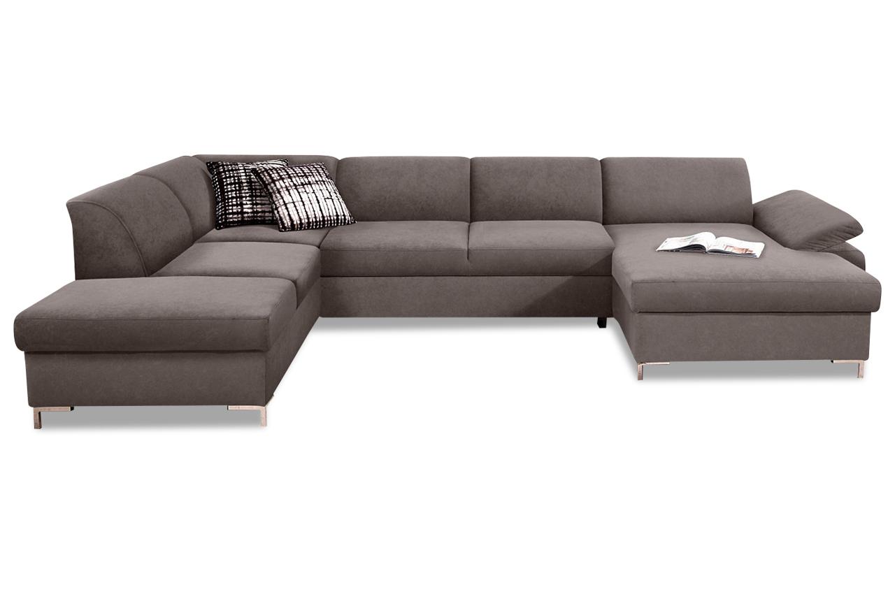 wohnlandschaft santana mit schlaffunktion grau sofas zum halben preis. Black Bedroom Furniture Sets. Home Design Ideas