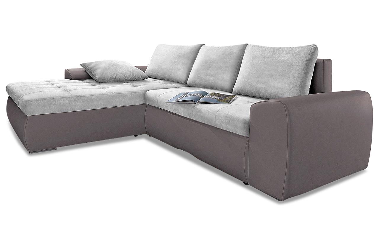 ecksofa cecile xl mit schlaffunktion grau sofas zum. Black Bedroom Furniture Sets. Home Design Ideas