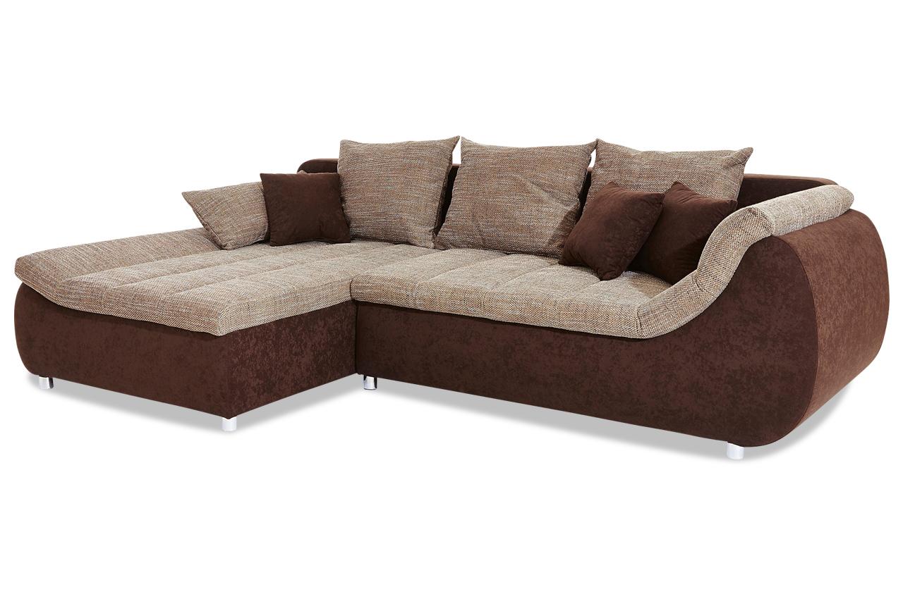 Ecksofa imola braun sofas zum halben preis for Ecksofa braun
