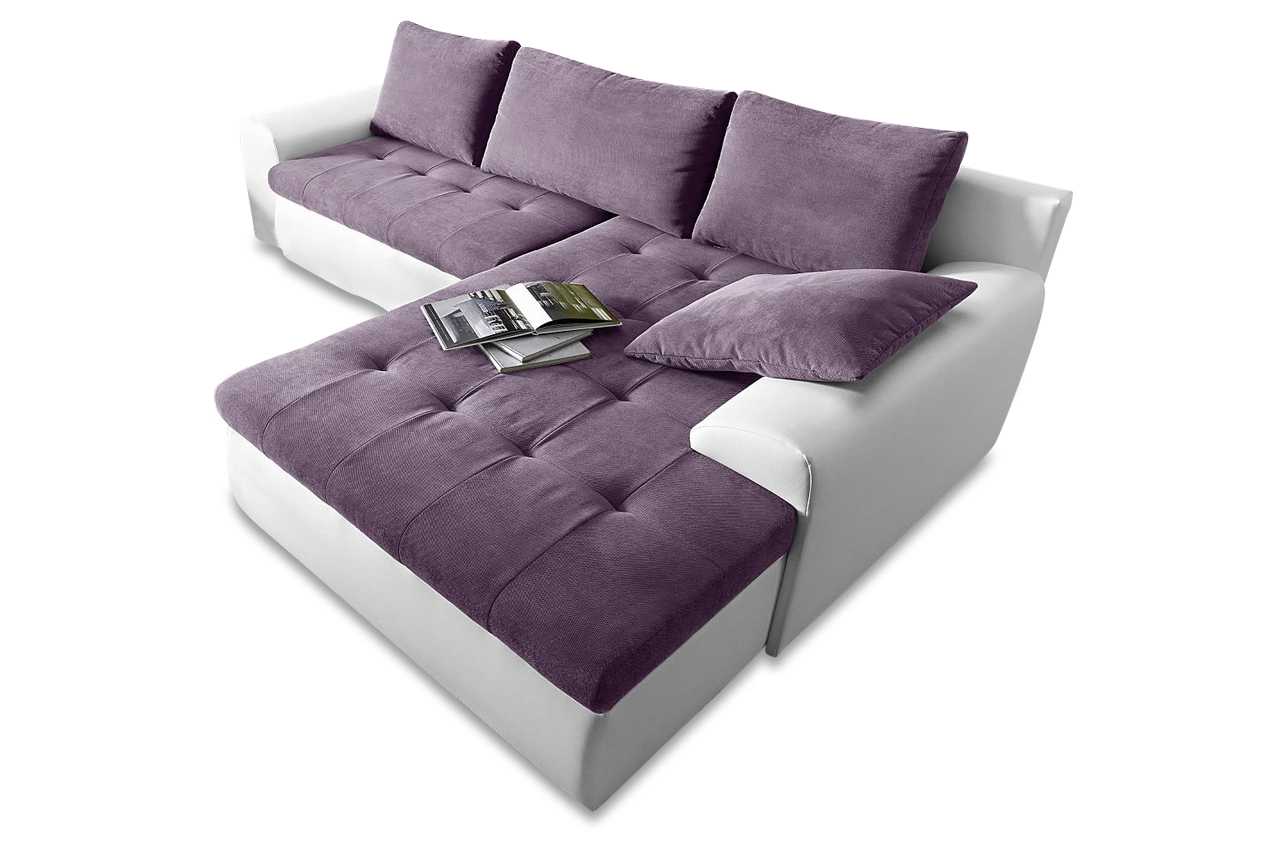ecksofa cecile xxl mit schlaffunktion violette sofas zum halben preis. Black Bedroom Furniture Sets. Home Design Ideas