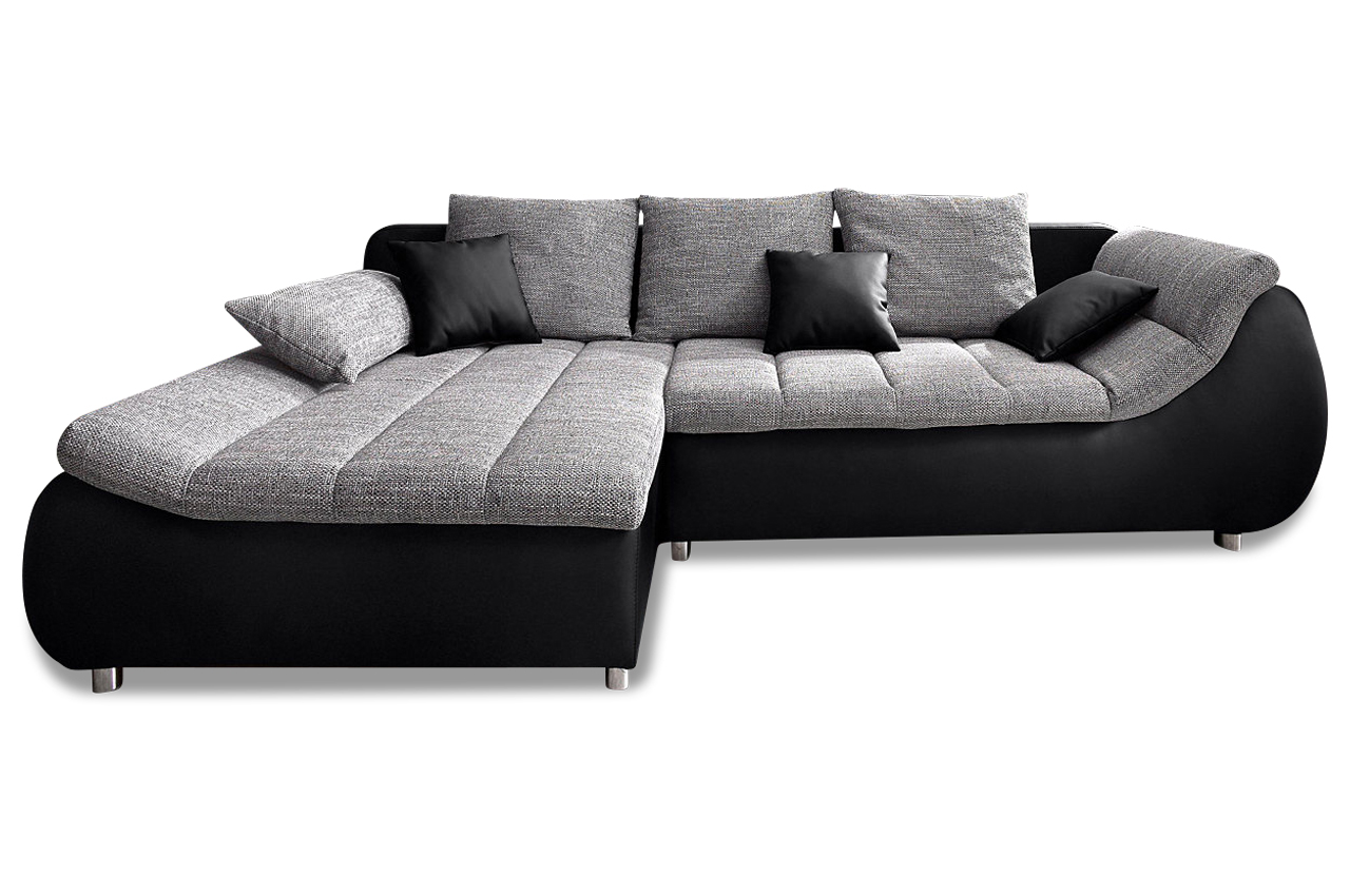 ecksofa imola mit schlaffunktion grau sofas zum halben preis. Black Bedroom Furniture Sets. Home Design Ideas