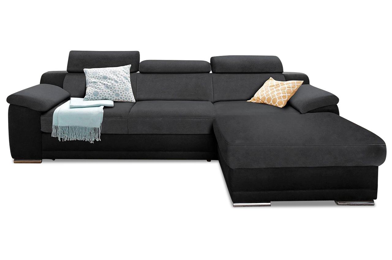 Ecksofa schwarz sofas zum halben preis for Schlafsofa xenia