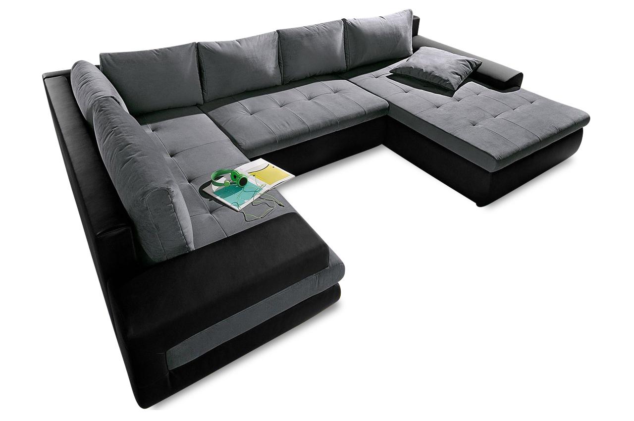 wohnlandschaft caramba xxl mit schlaffunktion grau sofas zum halben preis. Black Bedroom Furniture Sets. Home Design Ideas