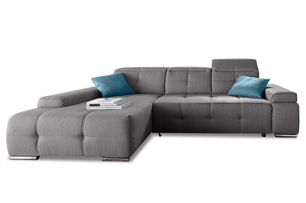 Ecksofa mistral grau sofa couch ecksofa ebay for Ecksofa ebay