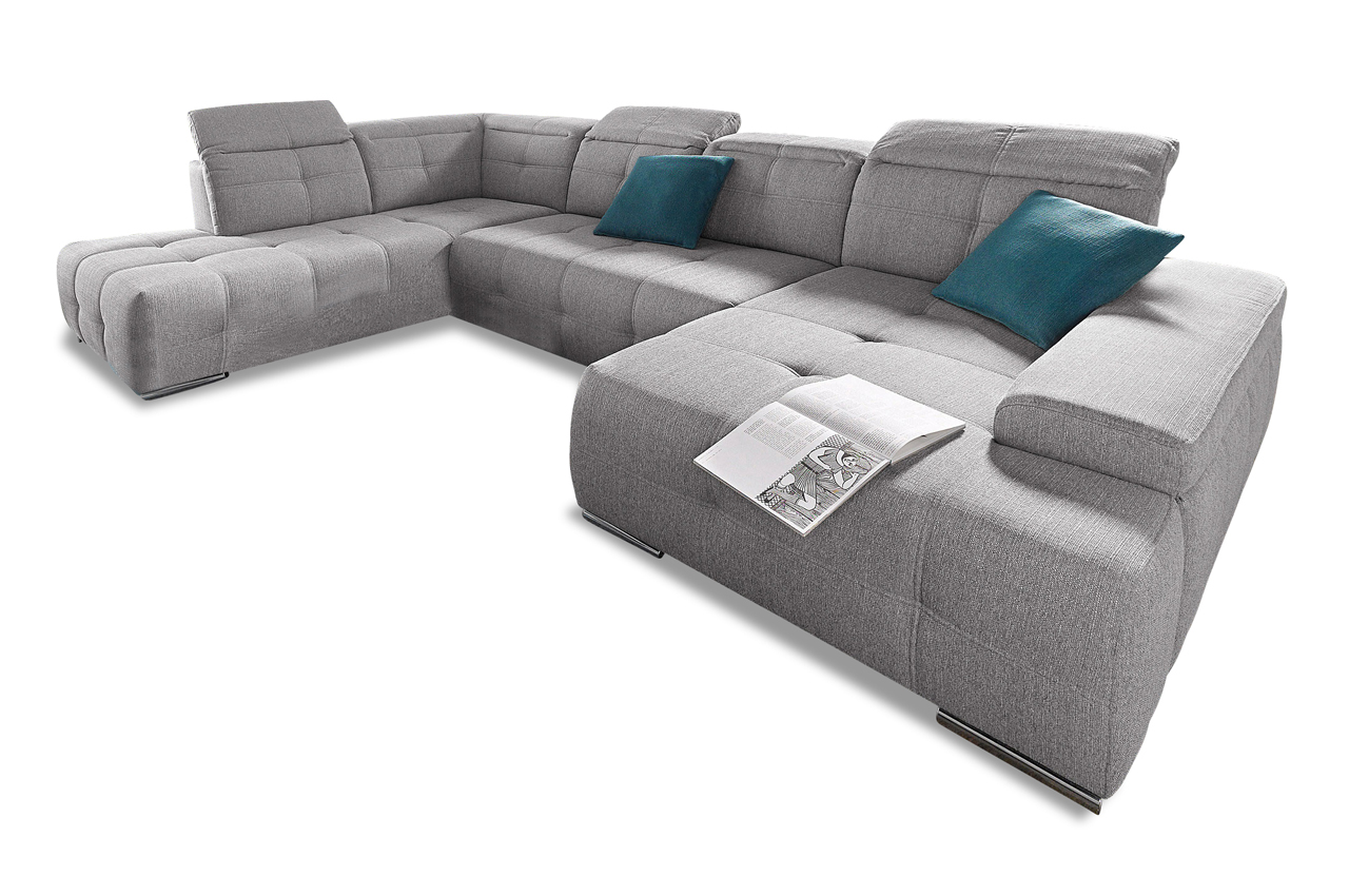 Sit more wohnlandschaft mistral mit bett stoff sofa for Sofa bett kombination