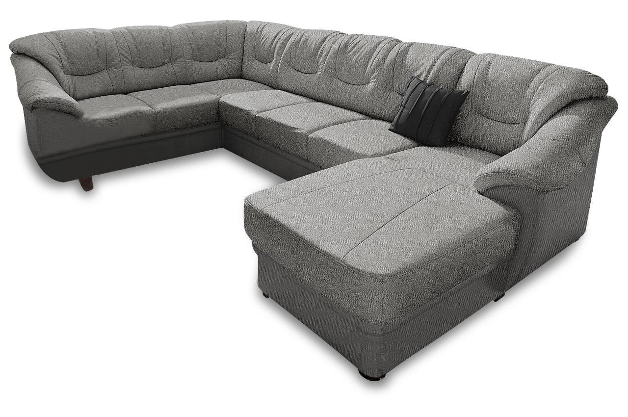 wohnlandschaft savona grau mit federkern sofas zum halben preis. Black Bedroom Furniture Sets. Home Design Ideas