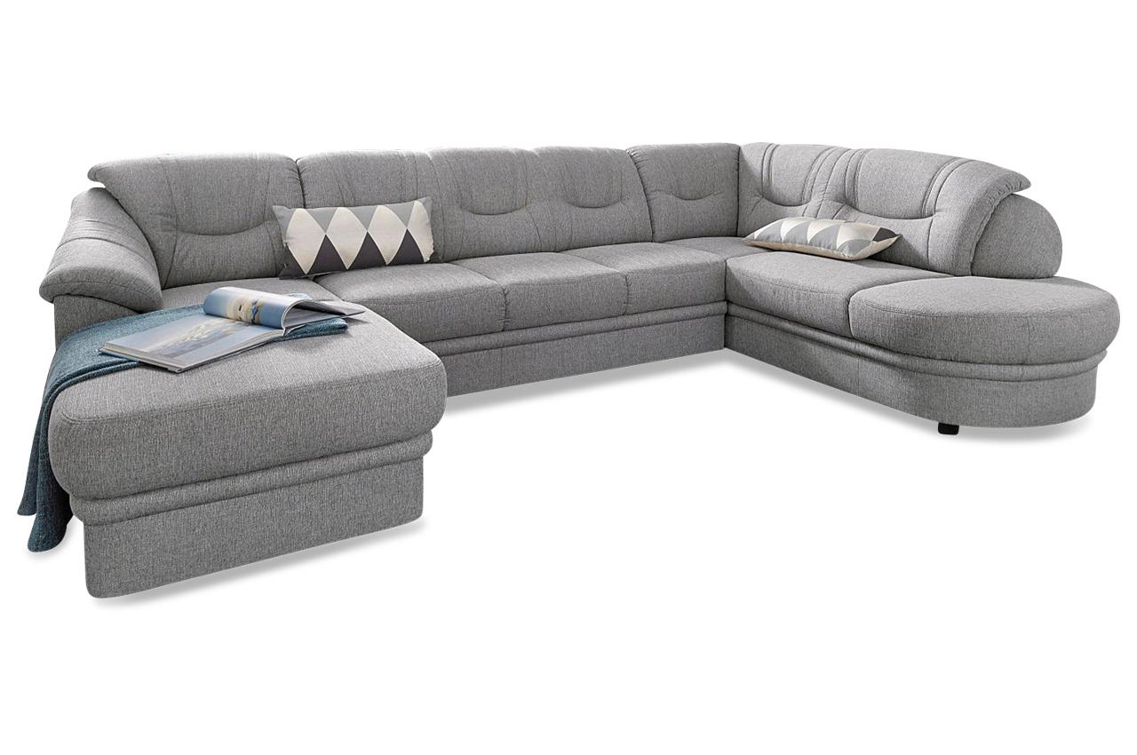 wohnlandschaft rechts grau mit federkern sofas zum halben preis. Black Bedroom Furniture Sets. Home Design Ideas